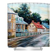 Ile D'orleans Quebec Street Scene Shower Curtain