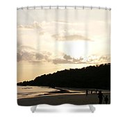 I'll Be Back Shower Curtain