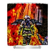I'll Carry Your Load Brother - Oil Shower Curtain