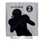 Illinois Football Shower Curtain