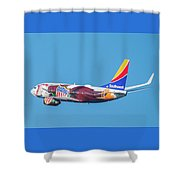 Illinois One Departing Dca Shower Curtain