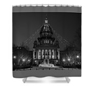 Illinois State Capitol B W Shower Curtain