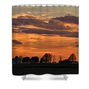 Illinois Sunset Strip IIi Shower Curtain