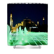 Illuminated Fountain Of Istanbul Shower Curtain