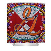 Illuminated Letter G Shower Curtain