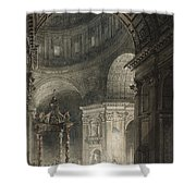 Illumination Of The Cross In St. Peter's On Good Friday, 1787 Shower Curtain