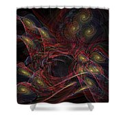 Illusion And Chance - Fractal Art Shower Curtain
