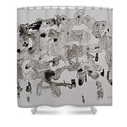 Illusioned  Part 1 Shower Curtain