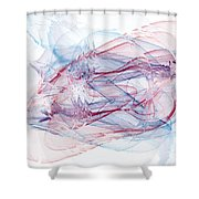 Illusions In Flights Of Mind Shower Curtain