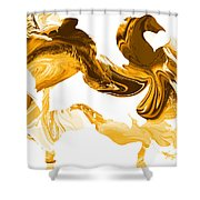 Illusions In Gold Shower Curtain