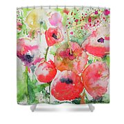 Illusions Of Poppies Shower Curtain