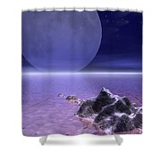Illustrated Evening Shower Curtain