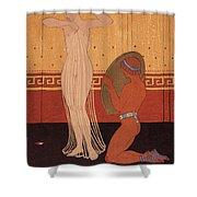 Illustration From Les Chansons De Bilitis Shower Curtain