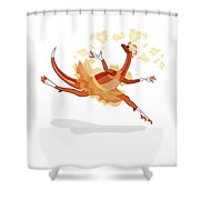 Illustration Of A Ballerina Dancing Shower Curtain