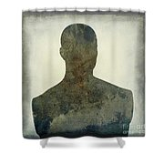 Illustration Of A Human Bust. Silhouette Shower Curtain