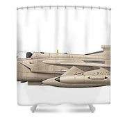 Illustration Of A Panavia Tornado Gr1 Shower Curtain by Chris Sandham-Bailey
