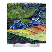 I'm In Love With A Big Blue Frog Shower Curtain