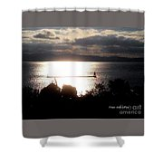 Image Included In Queen The Novel - Lighthouse Contrast Shower Curtain