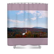 Image Included In Queen The Novel - New England Church Enhanced Shower Curtain