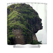 Image Of A Woman Shower Curtain