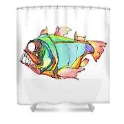 Imaginary Fish #1 Shower Curtain