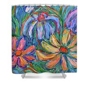 Imaginary Flowers Shower Curtain