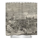 Imaginary View Of Venice Shower Curtain