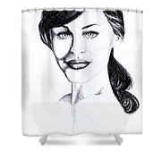 Imaginative Portrait Drawing  Shower Curtain