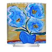 Imagine In Blue Shower Curtain