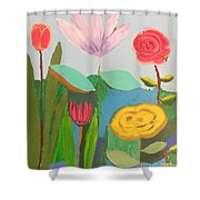Imagined Flowers One Shower Curtain