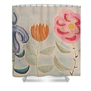Imagined Flowers Two Shower Curtain