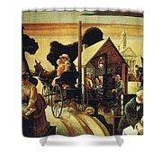 img605 Thomas Hart Benton Shower Curtain