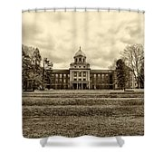 Immaculata University In Black And White Shower Curtain