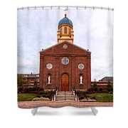 Immaculate Conception Chapel - University Of Dayton Shower Curtain