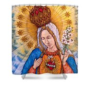Immaculate Heart Of Virgin Mary Shower Curtain