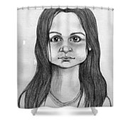 Immigrant Girl Shower Curtain