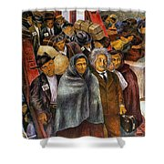 Immigrants, Nyc, 1937-38 Shower Curtain