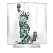 Immigration And Liberty Shower Curtain