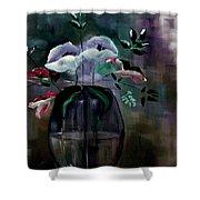 Impatient Painterly Floral Shower Curtain