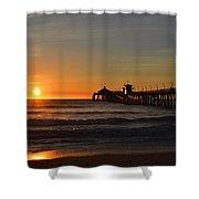 Imperial Beach Pier Shower Curtain