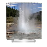 Imperial Geyser, Yellowstone Np Shower Curtain