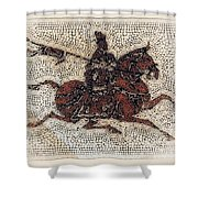 Imperial Horseman Dots Shower Curtain