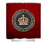 Imperial Tudor Crown Over Red Velvet Shower Curtain