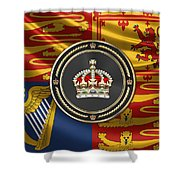 Imperial Tudor Crown Over Royal Standard Of The United Kingdom Shower Curtain