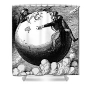 Imperialism Cartoon, 1876 - To License For Professional Use Visit Granger.com Shower Curtain