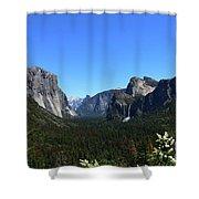 Imposing Alpine World - Yosemite Valley Shower Curtain