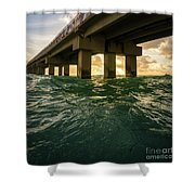 Imposing Pier Shower Curtain