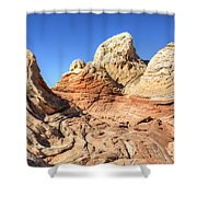 Impossible Rock Formations In The White Pocket Shower Curtain