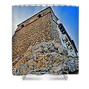 Impregnable Wall. Bran Castle - Dracula's Castle. Shower Curtain