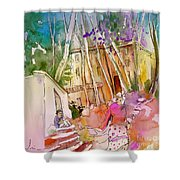 Impression Of Capileira 01 Shower Curtain